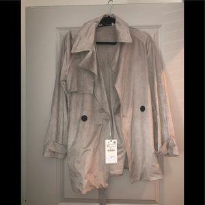 Zara Suede Jacket NWT